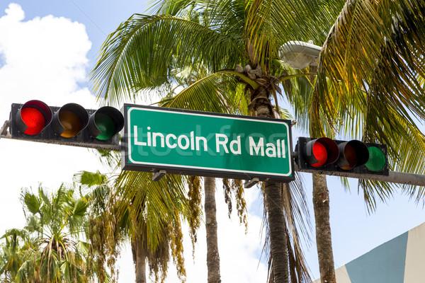 Lincoln Road Mall street sign located in Miami Beach Stock photo © meinzahn