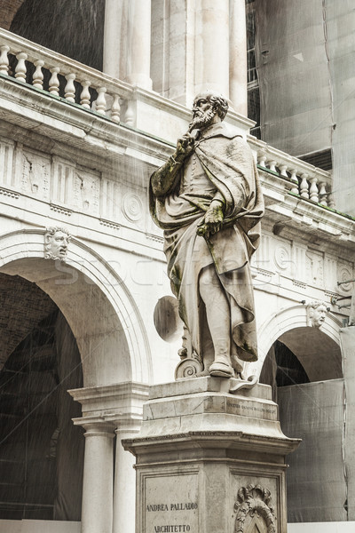 statue of the famous Italian architect of the Renaissance Andre Stock photo © meinzahn