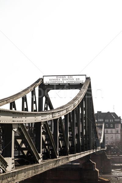 моста Франкфурт Германия город металл письме Сток-фото © meinzahn