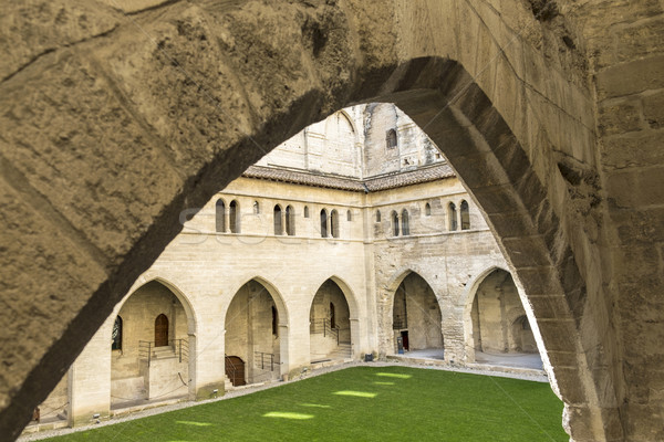 Popes Palace in Avignon, Provence, France. Stock photo © meinzahn