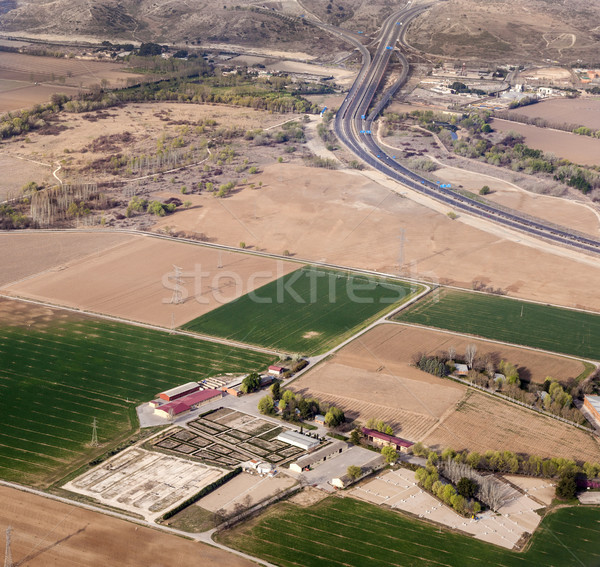 aerial of countryside and fields around madrid Stock photo © meinzahn