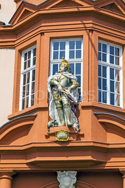 figure of a knight at the entrance of the Gutenberg Museum in Ma Stock photo © meinzahn