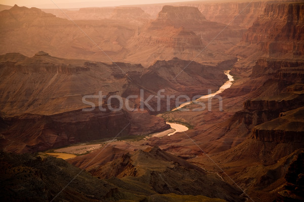 view from  South Rim at Desert View Point to the valley of great Stock photo © meinzahn