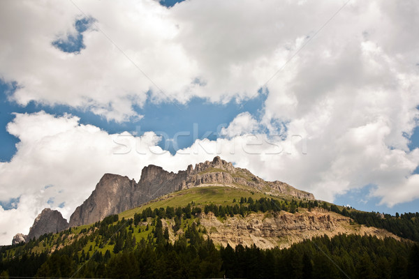 view to the Karer pass in the dolomite alpes Stock photo © meinzahn