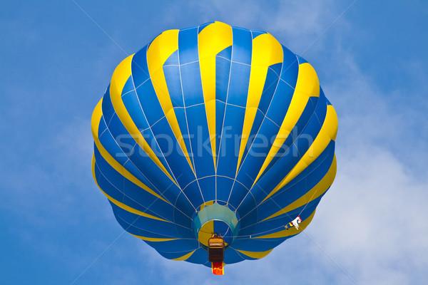 Luchtballon bewolkt hemel blauwe hemel natuur sport Stockfoto © meinzahn