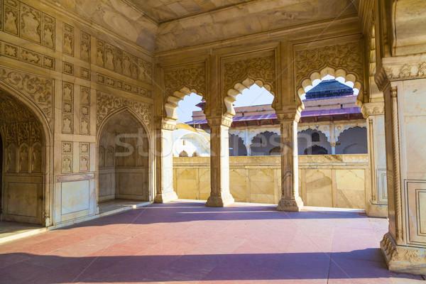Rood fort poort Indië unesco wereld Stockfoto © meinzahn