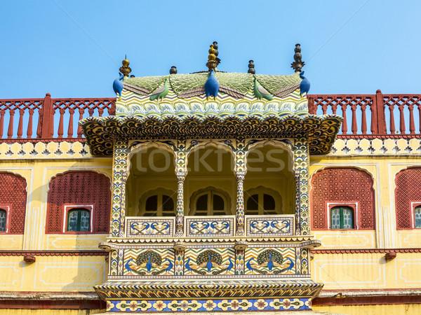 город дворец Индия сиденье голову клан Сток-фото © meinzahn