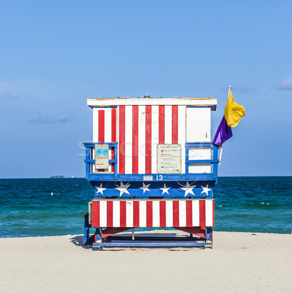 famous lifeguard towers in South beach Stock photo © meinzahn