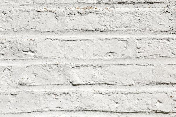 Branco harmônico parede de tijolos antigo casa pintar Foto stock © meinzahn
