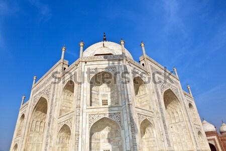 Taj Mahal Inde ciel bleu bâtiment architecture blanche Photo stock © meinzahn