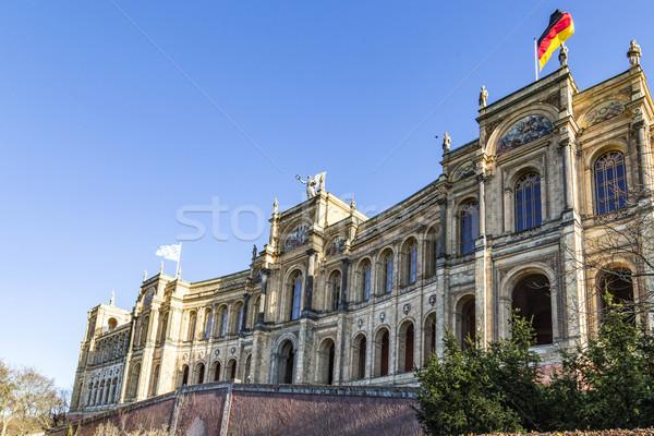 facade of the famous maximilianeum at munich  Stock photo © meinzahn