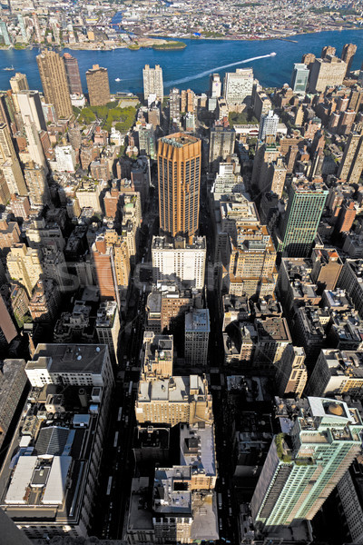 view from Empire state building to New York Stock photo © meinzahn