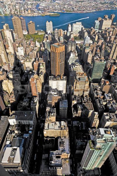 Kilátás Empire State Building New York üzlet égbolt fal Stock fotó © meinzahn