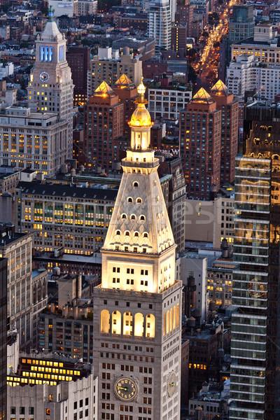 Stok fotoğraf: Panoramik · görmek · Manhattan · Empire · State · Binası · üst