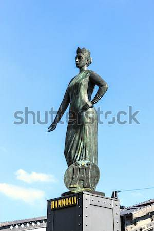 Heinrich Heine Statue in Hamburg Stock photo © meinzahn