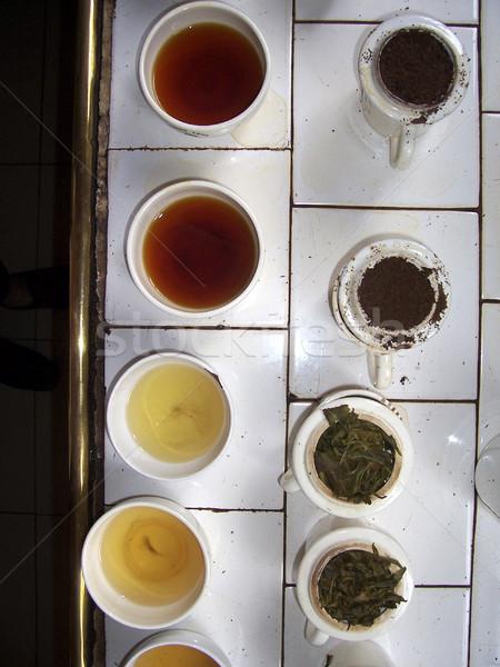 Diverso tè degustazione fabbrica colore Cup Foto d'archivio © meinzahn