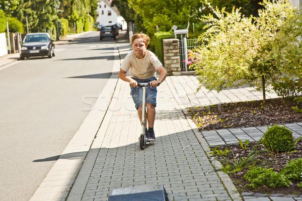 少年 スクーター 手 スポーツ フィットネス 楽しい ストックフォト © meinzahn