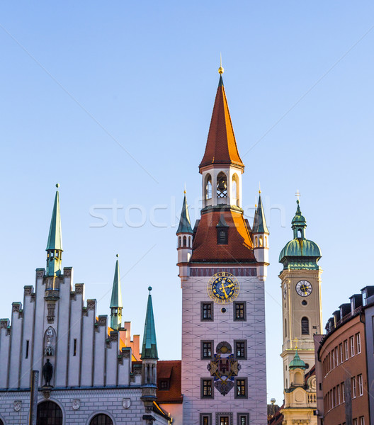 The old town hall architecture in Munich Stock photo © meinzahn