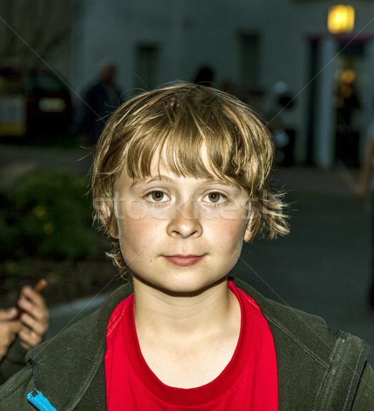 young boy in the dark Stock photo © meinzahn