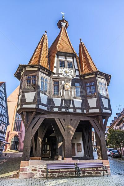 старый город зале Blue Sky дома город синий Сток-фото © meinzahn