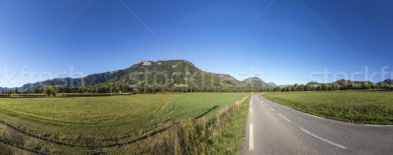 skyline of Mountains at Seyne les Alpes  Stock photo © meinzahn