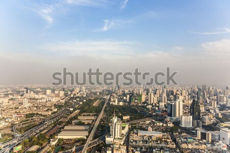View across Bangkok skyline showing office blocks and condominiums Stock photo © meinzahn