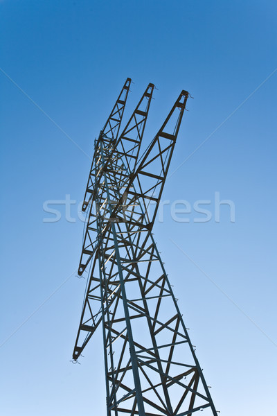 electricity tower for energy in beautiful landscape Stock photo © meinzahn