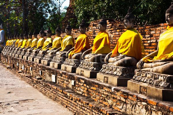 Buda tapınak Bangkok Tayland taş Asya Stok fotoğraf © meinzahn