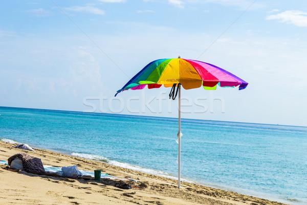 Renkli kum plaj gökyüzü güneş Stok fotoğraf © meinzahn