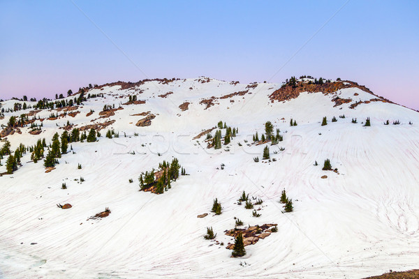 snow on Mount Lassen in the national park Stock photo © meinzahn