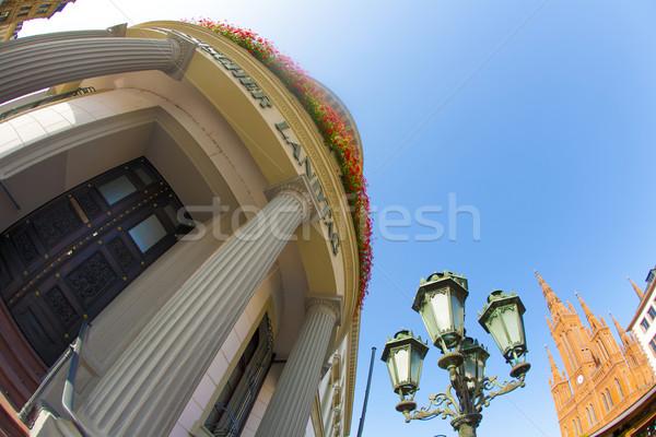 the Hessischer Landtag under blue sky Stock photo © meinzahn