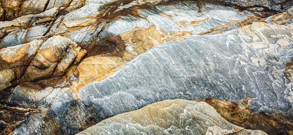 Piękna wzór kamień wybrzeża Tajlandia wody Zdjęcia stock © meinzahn