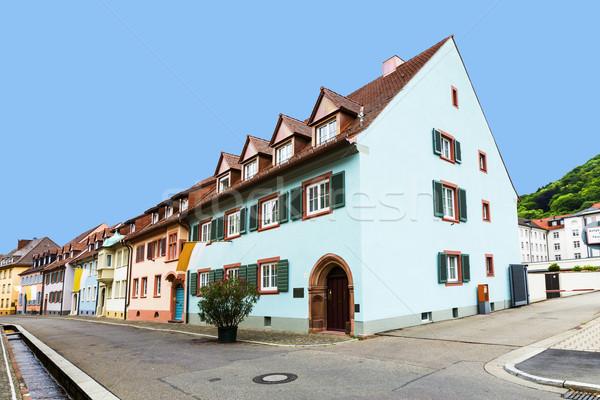street scenery in Freiburg im Breisgau, a city in Southern Germa Stock photo © meinzahn