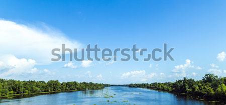 View fiume Mississippi ampia letto intatto Foto d'archivio © meinzahn