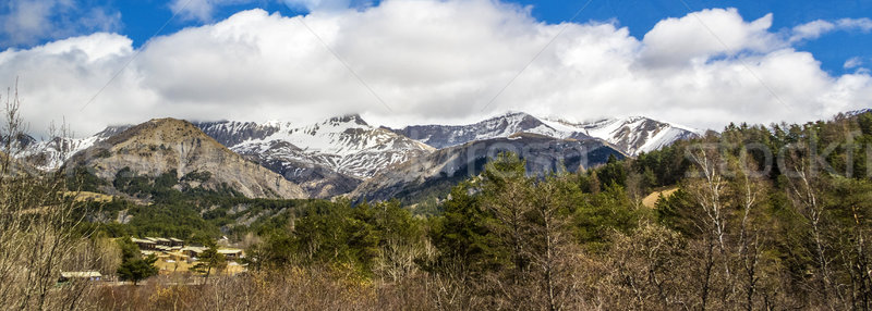 panorama at small village of Le Vernet in the french Alps Stock photo © meinzahn