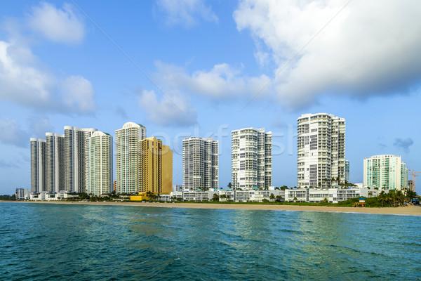 beautiful Jade Beach in Miami with skyscrapers Stock photo © meinzahn