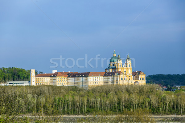 Stock photo: Convent Melk at river Danube in Lower Austria