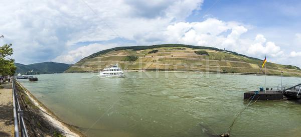 passenger ship on river Rhine in Bingen  Stock photo © meinzahn