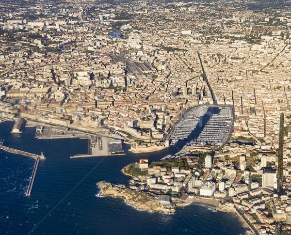aerial view of Marseille Stock photo © meinzahn