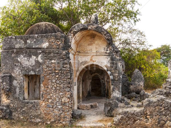 Velho mesquita ruínas antigo Foto stock © meinzahn