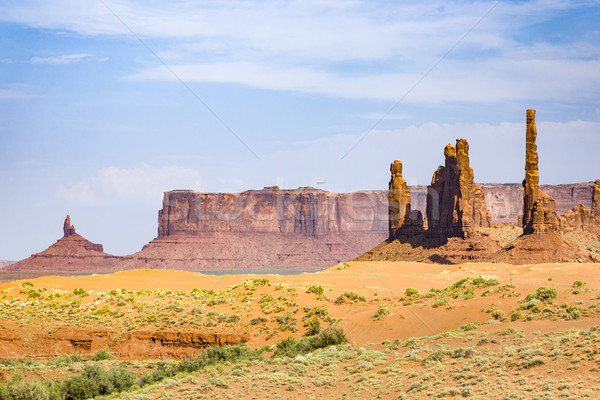 Monument Valley in Arizona, Totem Pole butte Stock photo © meinzahn