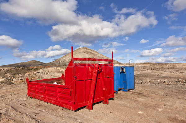 loading platform for lorry in volcanic area Stock photo © meinzahn
