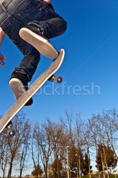 skate board going airborne Stock photo © meinzahn