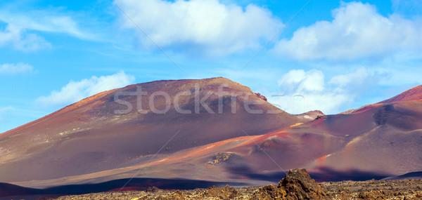 Vulkanisch landschap park Spanje auto Stockfoto © meinzahn