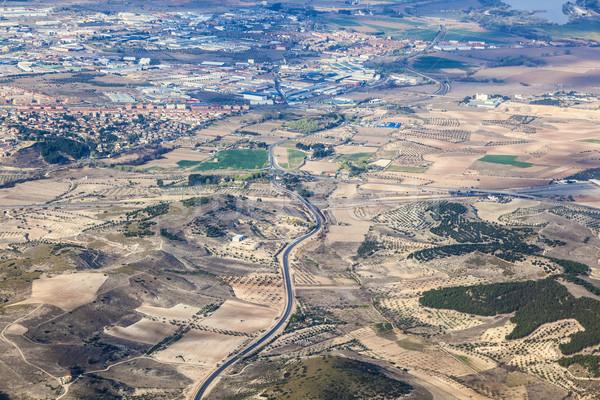 Alanları etrafında Madrid arka plan Stok fotoğraf © meinzahn