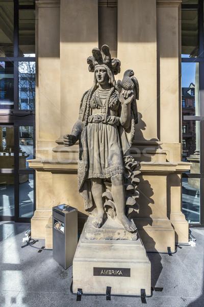 statue at frankfurt stock America Stock photo © meinzahn