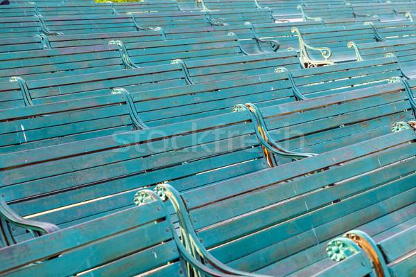 Panchina dettaglio rosso fort Delhi legno Foto d'archivio © meinzahn
