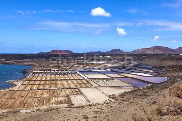 Tuz rafineri İspanya su doku manzara Stok fotoğraf © meinzahn