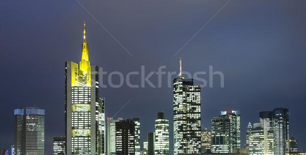 スカイライン フランクフルト 1泊 表示 建物 市 ストックフォト © meinzahn