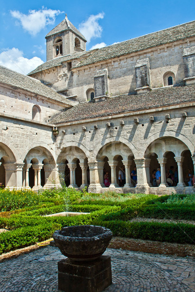 Cloister of Senanque Abbey, Vaucluse, Gordes, Provence, France Stock photo © meinzahn